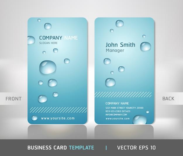 Визитная карточка с каплей воды.