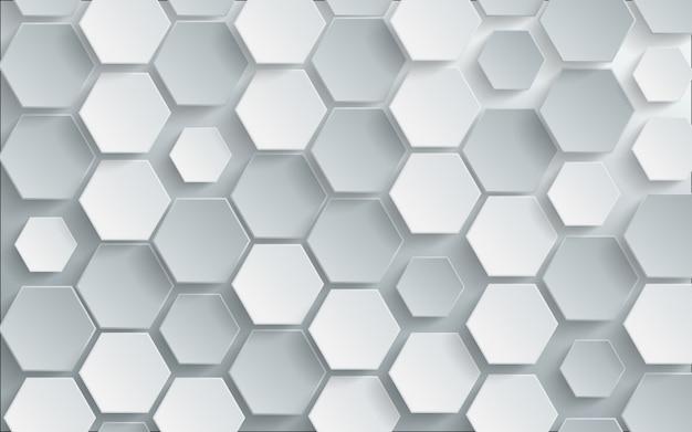 抽象的な白い六角形の背景。