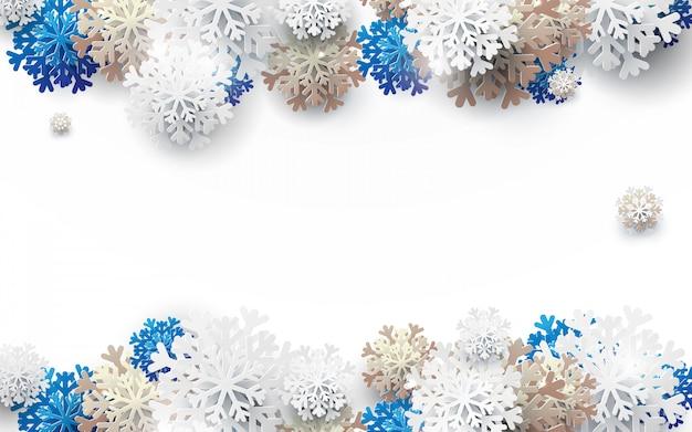 メリークリスマスと幸せな新年のフレームの背景