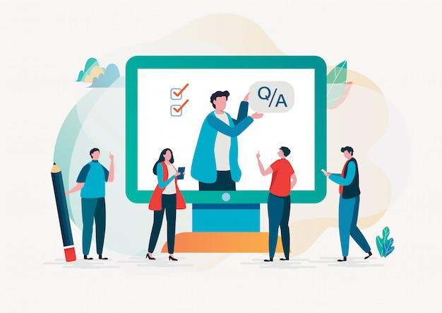 Вопрос и ответ. онлайн-опрос.