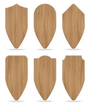 様々な形の木製看板のセット