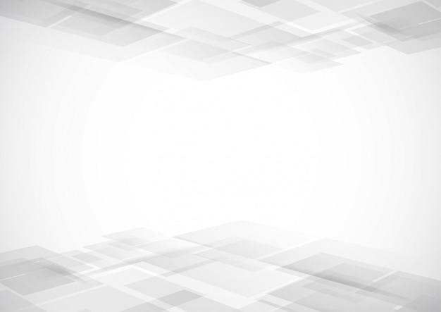 Аннотация технология белого и серого цвета современного фона