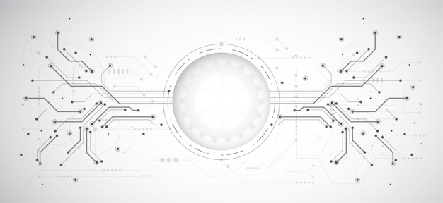 技術ドットとラインの抽象的なデザインの背景
