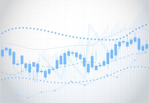 株式市場のビジネスキャンドルスティックグラフ