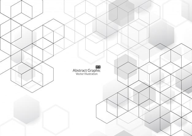 抽象的なボックスの背景。現代の技術