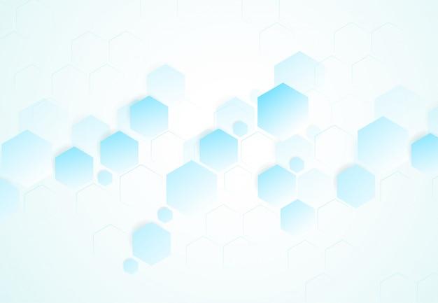 抽象的な六方分子構造