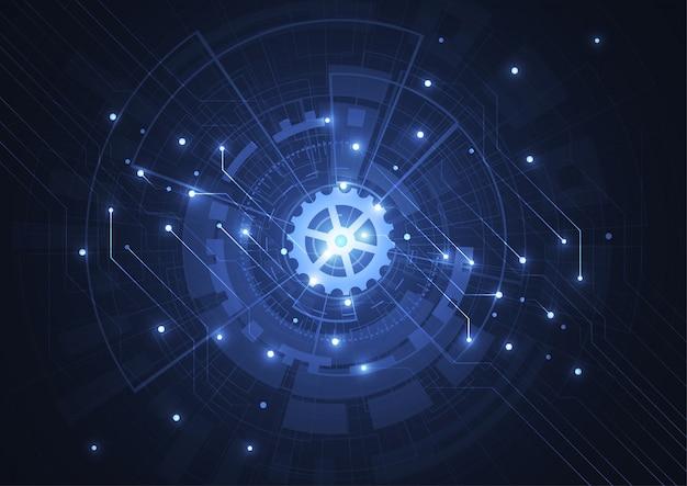 技術回路基板の質感と抽象的なデジタル背景