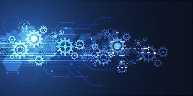 Абстрактная технология науки фона