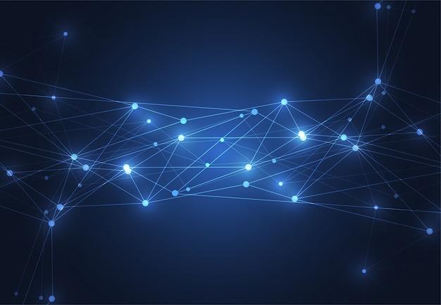 インターネット接続、抽象的な科学の背景