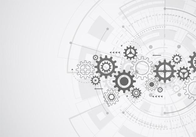 Абстрактная технология науки фона. футуристический интерфейс
