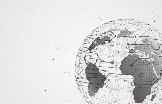 ソーシャルメディアと情報またはネットワーク。未来のサイバー技術
