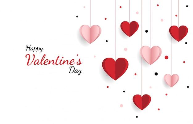 Счастливого дня валентина. с творческой любовной композицией сердца