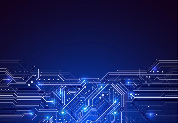 技術回路基板のテクスチャーと抽象的な背景