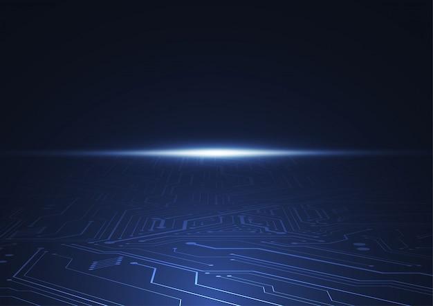 技術回路基板のテクスチャーと抽象的なデジタル背景