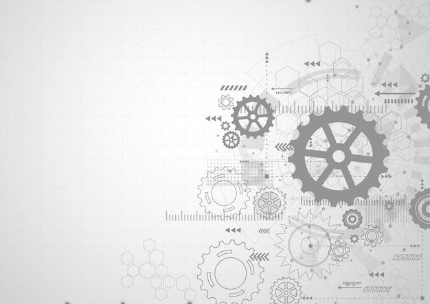 抽象的な歯車機構の背景