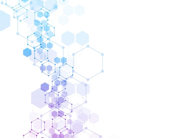 抽象的な六方晶分子構造