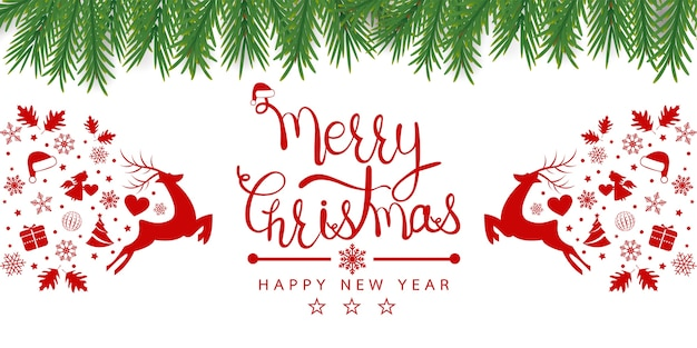 要素アイコンのメリークリスマスの背景