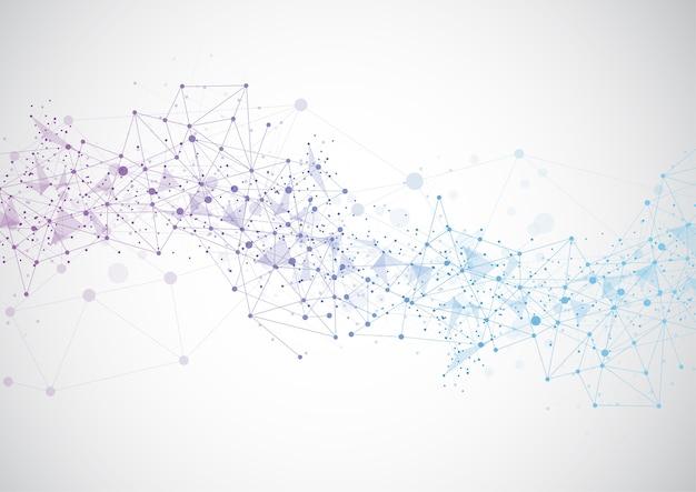 抽象的な技術未来的なネットワーク
