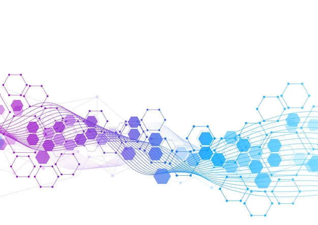 技術における六角形の分子構造の抽象化