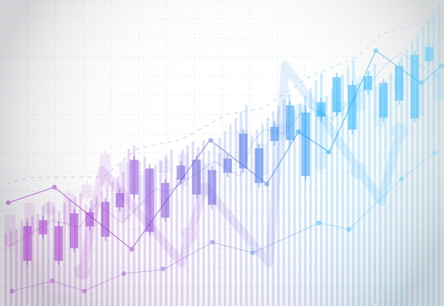 株式市場の投資のビジネスキャンドルスティックグラフチャート