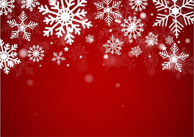 クリスマスと新年背景の光のボケをぼかし