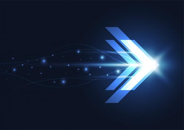 Абстрактная концепция технологии цифровой скорости будущего