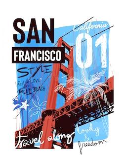 タイポグラフィスローガン、橋の背景イラスト
