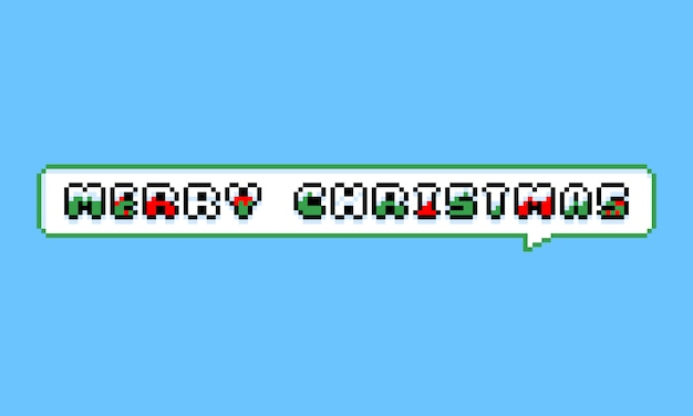 Пиксель арт с рождеством поздравительная открытка