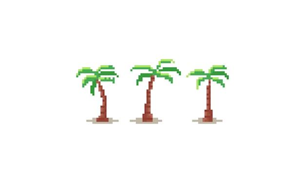 ピクセルのヤシの木