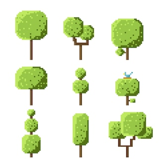 ピクセルキューブツリーセット