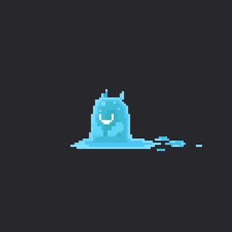 ピクセルのかわいい水の怪物