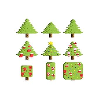 ピクセルクリスマスツリーを設定します。