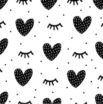 シームレスな手描きのパターン