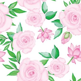 美しい水彩画の花のウェディングカードテンプレート