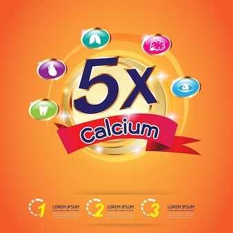 子供用ベクターのためのカルシウムオメガおよびビタミンロゴ製品