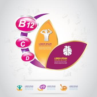 Детский витаминный логотип