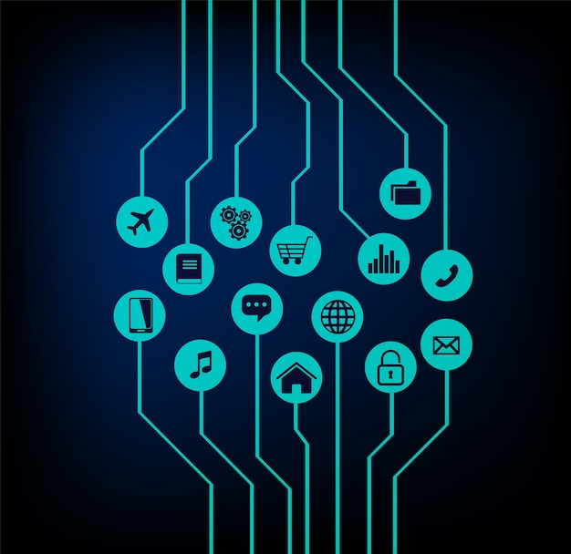 サイバー回線技術のインターネット
