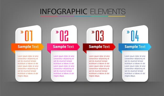 Шаблон текстового поля, баннер инфографика