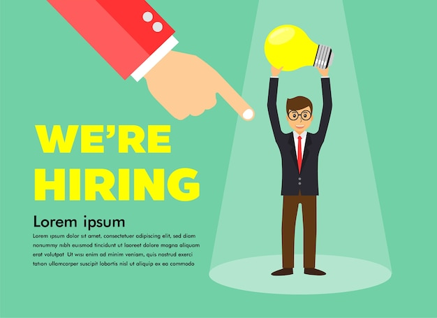 ビジネス、ビジネスマン、雇用している仕事のコンセプトに適した人を探しましょう