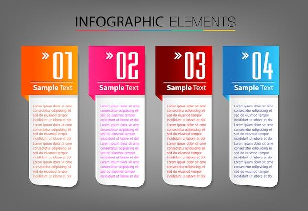 Современный шаблон текстового поля, баннер инфографика