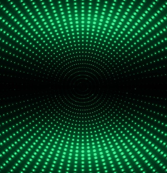 Зеленый светодиодный экран для кинопоказа.