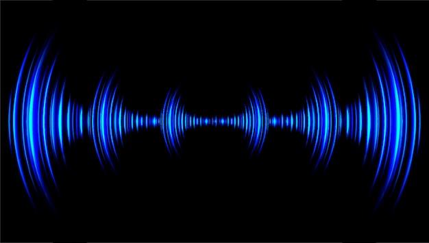 ダークブルーの光を振動させる音波