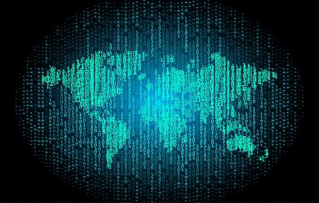 青い世界サイバー回路未来技術コンセプトの背景