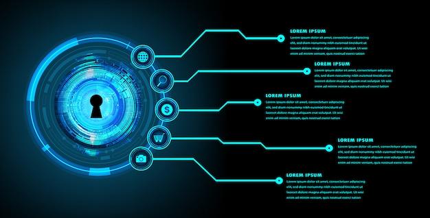 ウェブサイトコンピューターグラフィック技術、バナーインフォグラフィック、タイムラインの現代回路テキストボックステンプレート