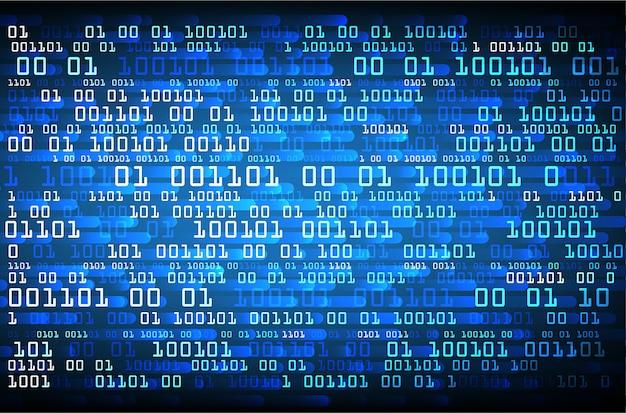 青いバイナリサイバー回路将来の技術コンセプトの背景