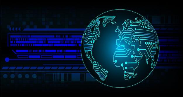 デジタル背景、世界のサイバーセキュリティに南京錠を閉鎖