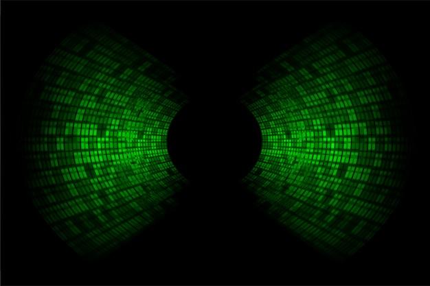 濃い緑色の光を振動させる音波