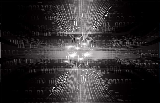 ブラックサイバー回路未来技術コンセプトの背景