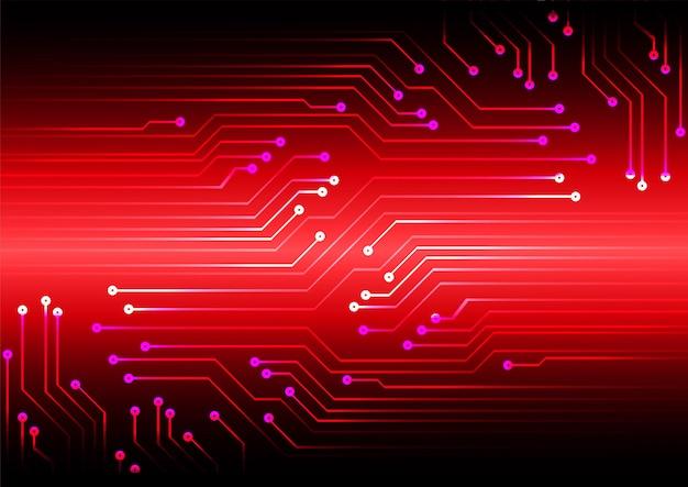 赤いサイバー回路未来技術コンセプトの背景