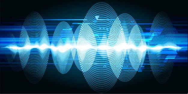 音波振動ダークブルーライトバックグラウンド